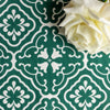 Amalfi tulip scroll fabric leaf green