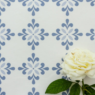 Amalfi Flower Fabric blues