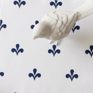 Amalfi Swish Fabric - Navy