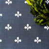 Amalfi Swish Reverse Fabric - Graphite