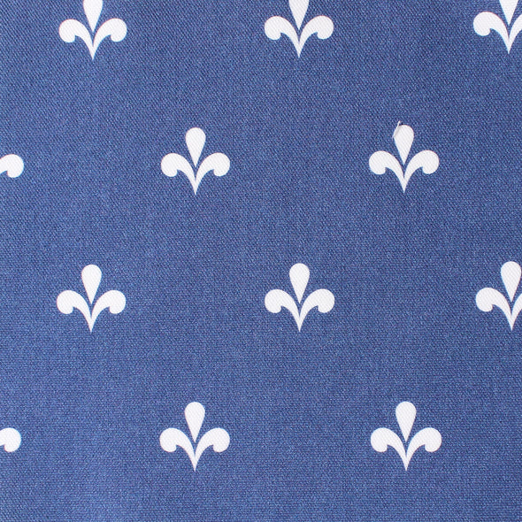 Amalfi Swish Reverse Fabric - Navy