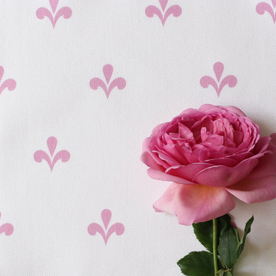 Amalfi Swish Fabric - Tickled Pink