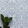 Amalfi Tulip Scroll Fabric - Cornflower