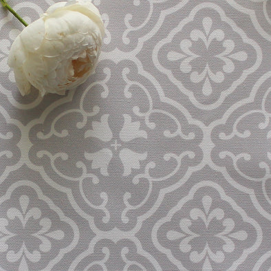 Amalfi Tulip Scroll Fabric - Dove