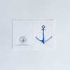 Anchor watercolour greeting card