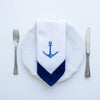 anchor embroidered napkin