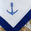 embroidered anchor hemstitch napkin