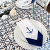 coastal nautical table setting napkin
