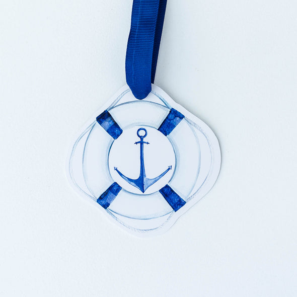 Nautical anchor shaped gift tag