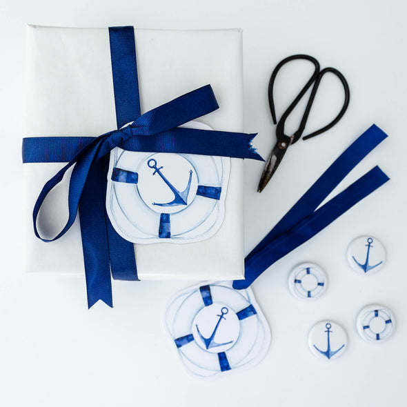 anchor and life buoy gift tag