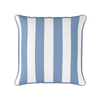 Awning stripe indoor outdoor cushion breeze blue