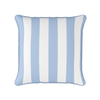 Awning stripe indoor outdoor cushion cornflower blue