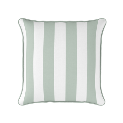 Eau de nil awning stripe indoor outdoor cushion
