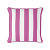 Awning stripe indoor outdoor cushion raspberry pink