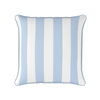 Awning stripe indoor outdoor cushion serenity blue
