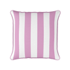 Awning stripe indoor outdoor cushion tickled pink