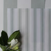 Awning Stripe cotton linen fabric in Eau de Nil green