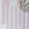 Awning Stripe cotton linen fabric in Peony pink