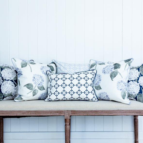 blue cushion collection