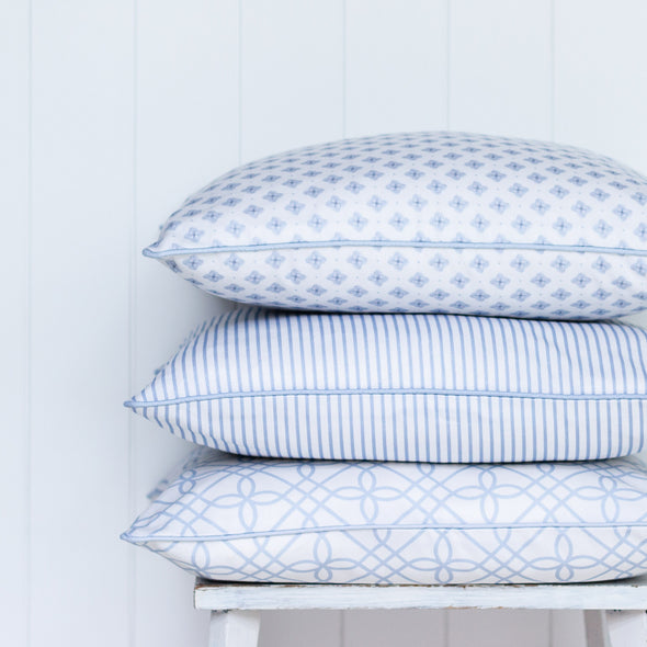 Pale blue cushions Hamptons Style