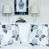 Blue hydrangea flower cushion