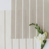 Breton Stripe cotton linen fabric in neutral beige