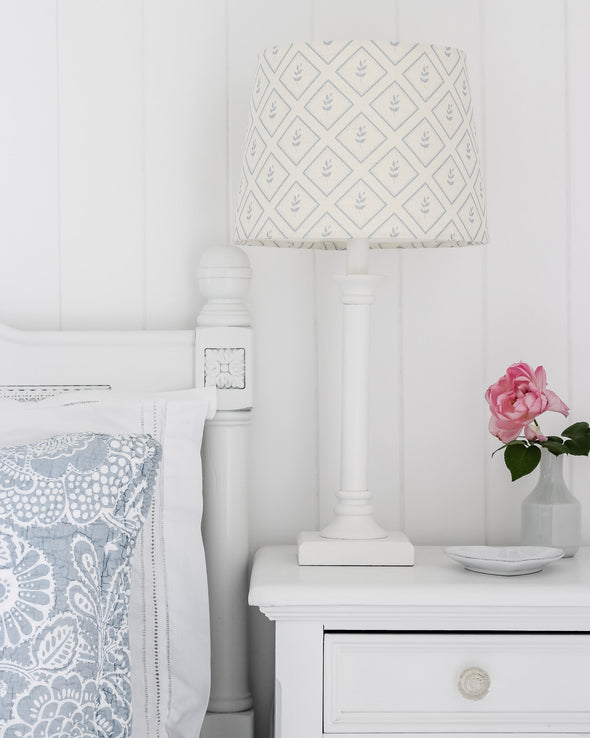Custom made tapered bedside lampshade Australia