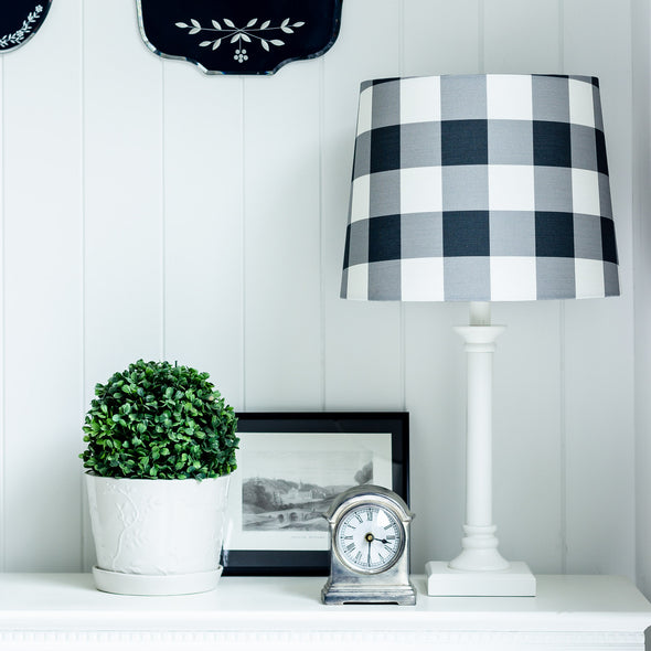 Gingham Check Custom Lampshade Australia