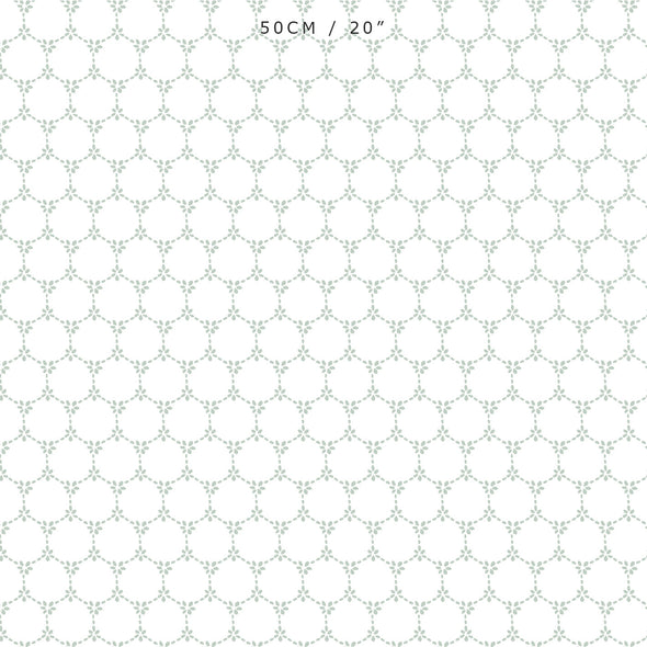 Daisy Chain pretty floral fabric Eau De Nil green