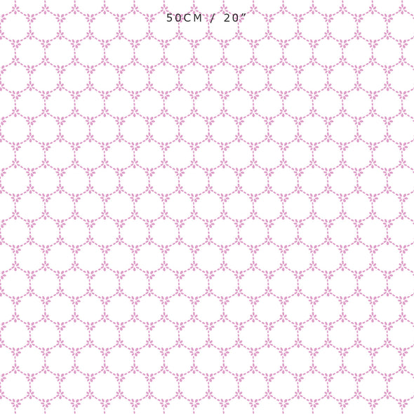 daisy chain pretty pink floral fabric