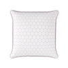 Daisy chain geometric floral pattern cushion pale pink