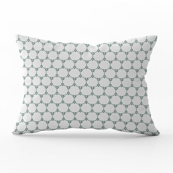 Daisy Chain cushion Pretty floral style green