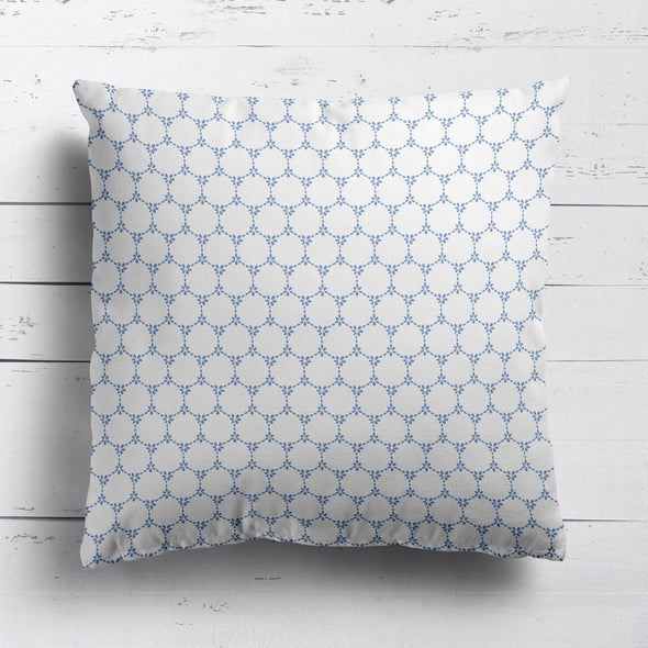 Daisy Chain cushion blue