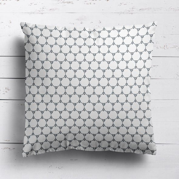 Daisy Chain pretty floral fabric graphite grey