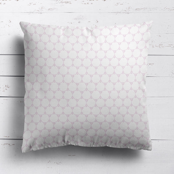 Daisy Chain cushion Pretty floral style pink