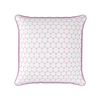 Daisy chain geometric floral pattern cushion pink