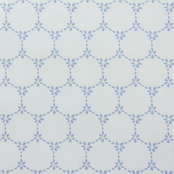 Daisy Chain pretty floral fabric cornflower blue