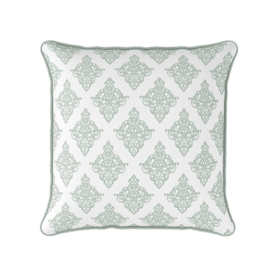 Damask Cushion - Greens