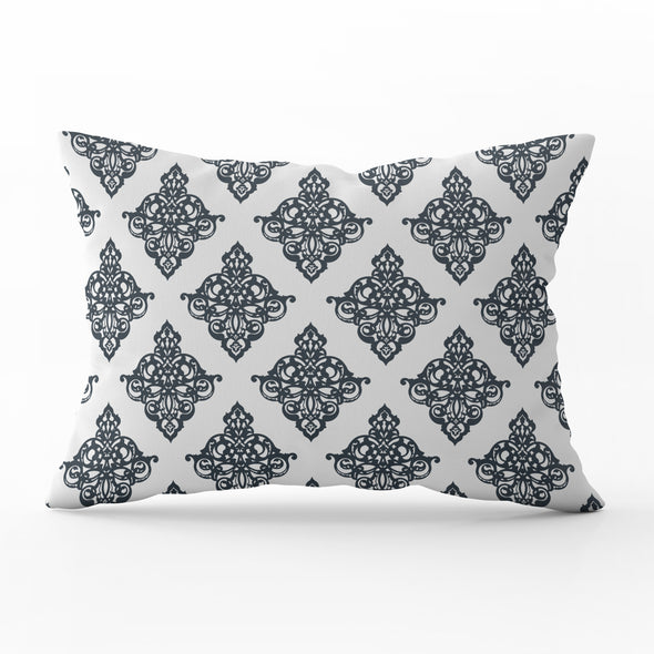 damask scroll lumbar cushion