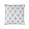 Damask pattern piped cushion grey