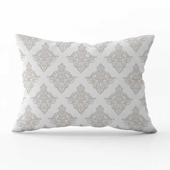 damask linen rectangle cushion