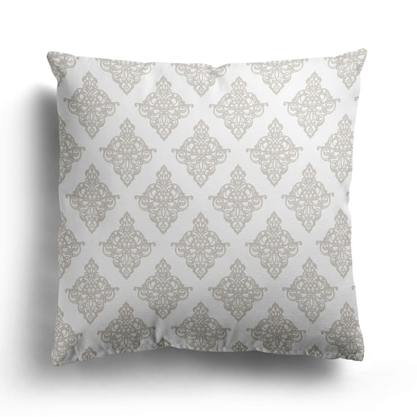 damask linen square cushion