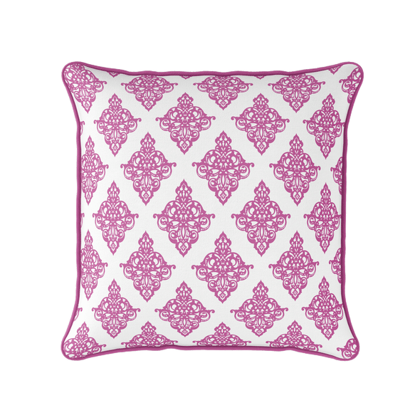 Damask Cushion - Pinks