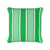 emerald green deckchair stripe piped cushion