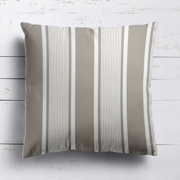 Deckchair stripe cotton linen fabric Chateaux beige