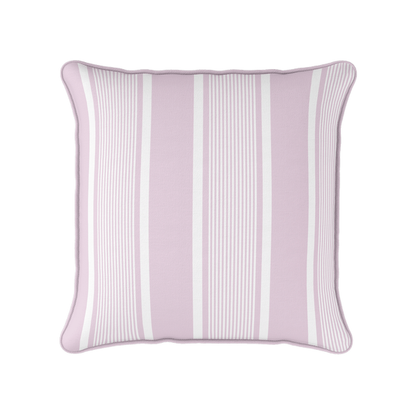 peony pink deckchair stripe piped cushion
