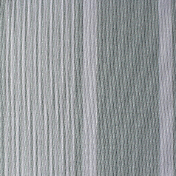 Deckchair stripe cotton linen fabric Eau de Nil green