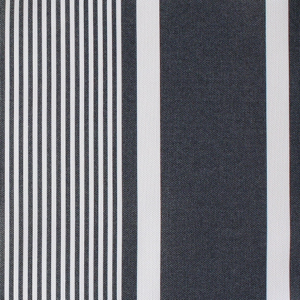 Deckchair stripe cotton linen fabric Graphite grey