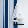 Deckchair Stripe Fabric Navy blue Sailing Boat