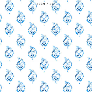 Delft Tulip Blue Fabric